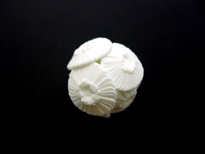 Coccolithus Desk Sculpture in White Natural Versatile Plastic