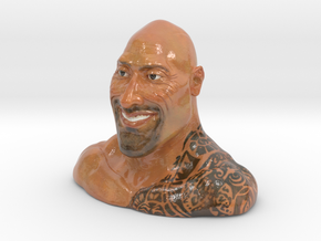 Dwayne Johnson (The Rock) in Glossy Full Color Sandstone