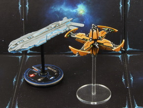 Space station (1-2 pcs) - Fleet Commander in Smooth Fine Detail Plastic: Small