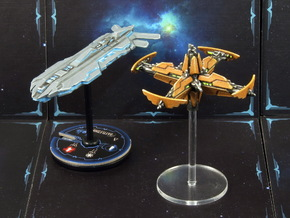 Space station (1-2 pcs) - Fleet Commander in White Processed Versatile Plastic: Small