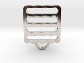 Pendant nº11 in Rhodium Plated Brass