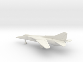MiG-23BN Flogger-H in White Natural Versatile Plastic: 6mm
