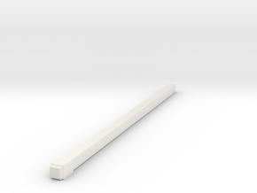 1-87 Square Pole 4.5MM X 138MM in White Natural Versatile Plastic