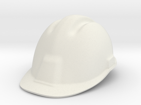 construction hard hat/helmet in White Natural Versatile Plastic: Small