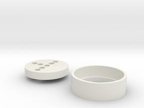 UW Dooku Neopixel adapter in White Natural Versatile Plastic