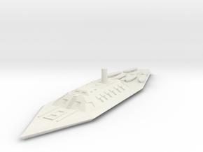 1/600 CSS Mississippi  in White Natural Versatile Plastic