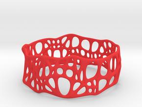Voronoi Dodecagonal Bracelet 30mm (003) in Red Strong & Flexible Polished