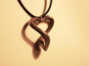 Twisted Heart Necklace in White Strong & Flexible