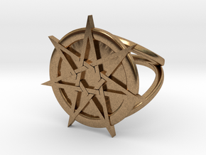 Fairy star ring in Natural Brass: 4 / 46.5