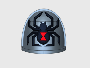 10x Black Widow - G:4a Shoulder Pads in Smooth Fine Detail Plastic