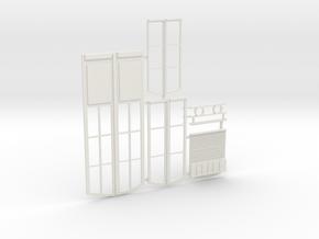 Portes et fenetres gare SE in White Natural Versatile Plastic