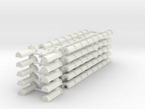 12 Goutières in White Natural Versatile Plastic