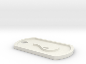 Magic: The Gathering Blue Mana Themed Dog Tag in White Natural Versatile Plastic