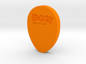 Edggy - The egg cracker in Orange Processed Versatile Plastic