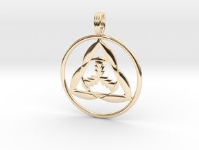 CHARGED PARTICLE in 14k Gold Plated Brass