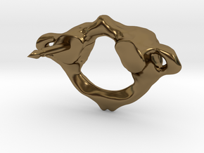Atlas C1 Vertebra Pin (single post) in Polished Bronze