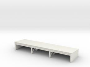1:350 Wooden hangar II in White Natural Versatile Plastic