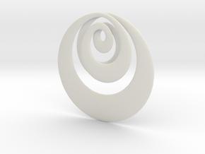Mobius X in White Natural Versatile Plastic