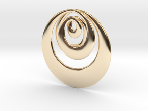 Mobius X in 14k Gold Plated Brass