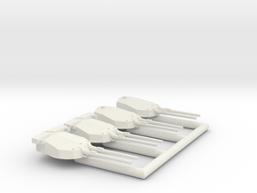 14in/45 (356mm) Twin Turrets in White Natural Versatile Plastic