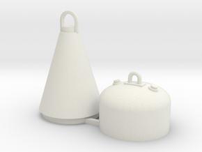Kabeltonne / Buoy 1:50/40/32/25/20 in White Natural Versatile Plastic: 1:50