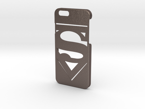 Superman Logo Phone Case-iPhone 6/6s in Polished Bronzed Silver Steel