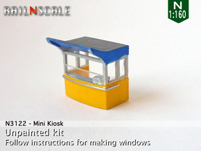 Mini Kiosk (N 1:160) in Smooth Fine Detail Plastic