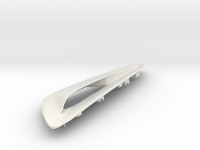 Hood Scoop for 2013+ Hyundai Genesis Coupe, Left in White Natural Versatile Plastic