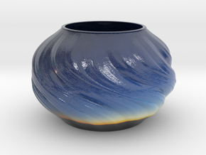 Vase D0203 in Glossy Full Color Sandstone