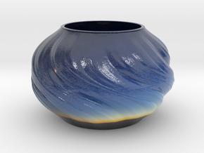 Vase D0203 in Glossy Full Color Sandstone
