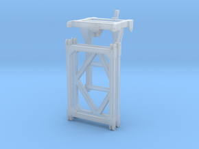 Trunnion gantry 1:100 in Smooth Fine Detail Plastic
