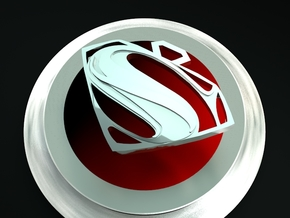 Superman 2 in Fine Detail Polished Silver