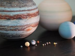 Solar System, 16 set in Full Color Sandstone