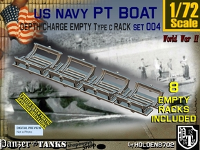1/72 Deep Charge Empty Rack Type C Set004 in Smooth Fine Detail Plastic