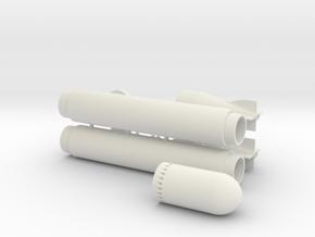 G7 Torpedo in 1 to 32 in White Natural Versatile Plastic