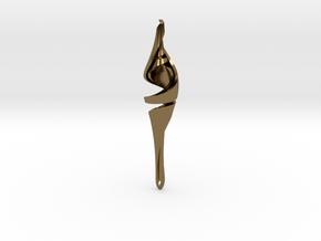 Intertwined Teardrop Pendant in Polished Bronze