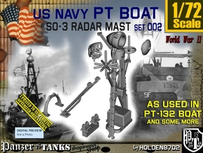 1/72 PT-132 SO-3 Radar Mast Set002 in Smooth Fine Detail Plastic