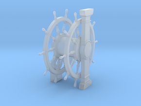 1/84 Wheel and Pedestal for Ships-of-the-Line in Smoothest Fine Detail Plastic