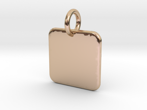 Cannivest Square Label Templete in 14k Rose Gold