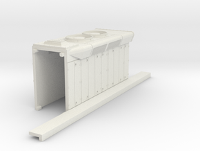 DDm45 Motor Part S scale in White Natural Versatile Plastic