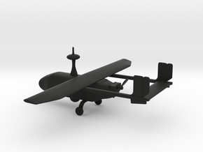 Pegasus II - UAV (bigger version) in Black Premium Versatile Plastic