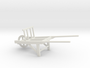 18th Century Utility Wheelbarrow 1/43.5 in White Natural Versatile Plastic
