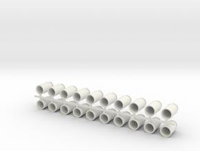 Eight Gallon (30 L) Cylindrical Milk Churn in White Natural Versatile Plastic: 1:19
