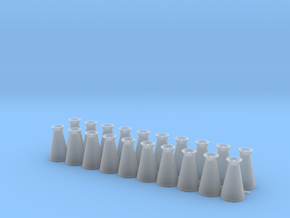 17 Gallon (65 L) Conical Milk Churn Variant 2 in Smooth Fine Detail Plastic: 1:48 - O