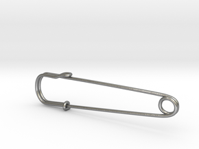 safety pin - Mona in Natural Silver
