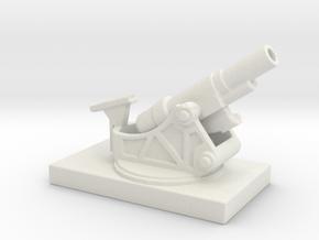 SKODA 305mm  M1916 ww1 artillery 1/144 in White Natural Versatile Plastic