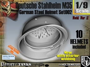 1/9 stahlhelm M35 Set002 in White Natural Versatile Plastic