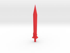 POTP grimlock sword 2.0 in Red Processed Versatile Plastic