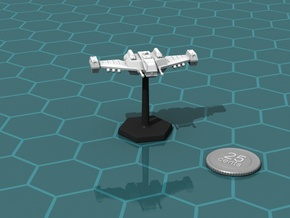 Terran Interceptor, Flying in White Natural Versatile Plastic