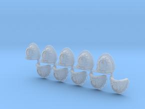 Steel Handed Warriors Shoulder Pads Mk3 x10 L #1 in Smooth Fine Detail Plastic